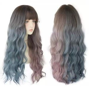 pastel pink and blue wig